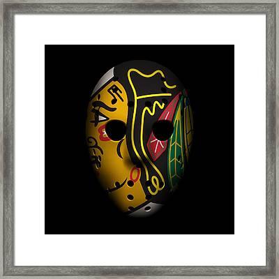 Blackhawks Goalie Mask Framed Print
