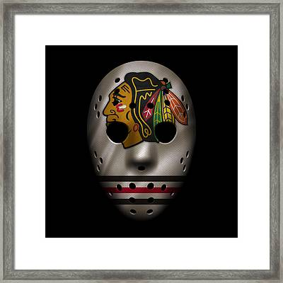Blackhawks Jersey Mask Framed Print