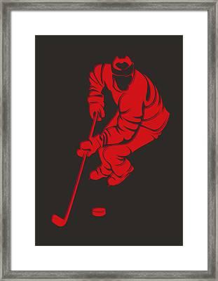 Blackhawks Shadow Player3 Framed Print