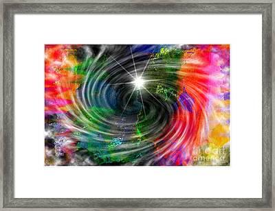Blackhole Creation Framed Print