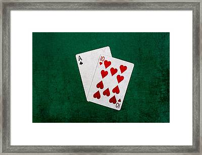 Blackjack Twenty One 1 Framed Print