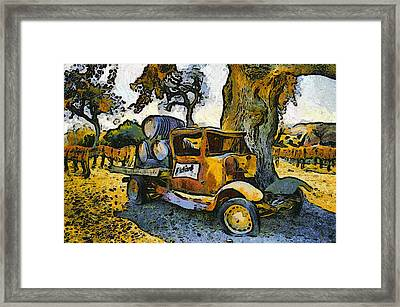 Blackjack Winery Truck Santa Ynez California Framed Print