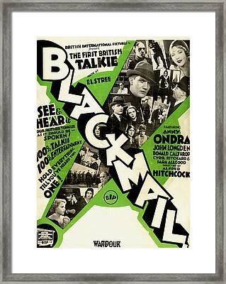Blackmail - 1929 Framed Print