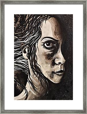 Blackportrait 8 Framed Print