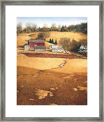 Framed Print featuring the painting Blackshear Hollow by Tom Wooldridge