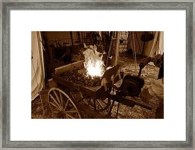 Blacksmith 1860s Framed Print by David Lee Thompson