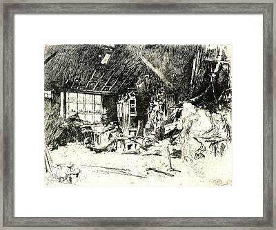 Blacksmith 1880 Framed Print by Padre Art