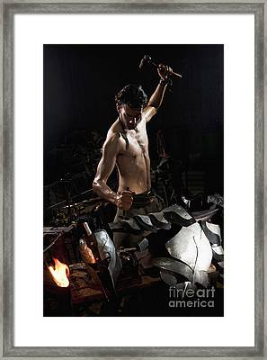 Blacksmith 3 Framed Print by Yedidya yos mizrachi