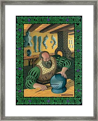 Blacksmith Armourer Framed Print by Guy Radcliffe