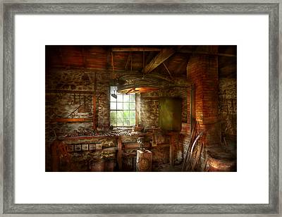 Blacksmith - Breathing Life Into Metal Framed Print by Mike Savad
