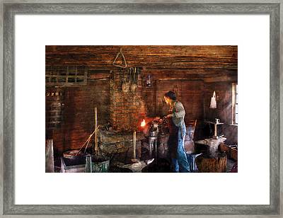 Blacksmith - Cooking With The Smith's  Framed Print by Mike Savad
