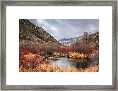 Blacksmith Fork Canyon Framed Print by Gina Herbert