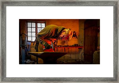 Blacksmith In Torresta Framed Print