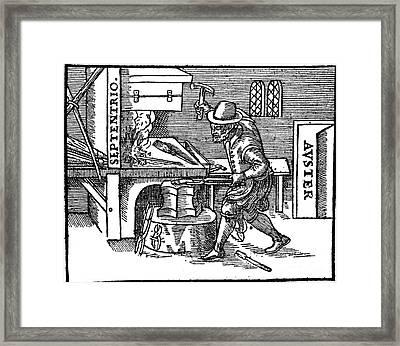 Blacksmith, Magnetic Forces, 17th Framed Print