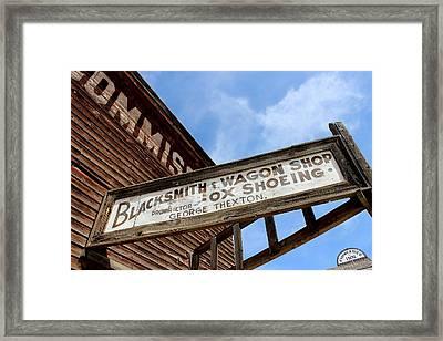 Blacksmith Shop Framed Print by Mark Eisenbeil