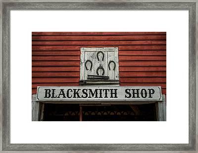 Blacksmith Shop Sign Framed Print