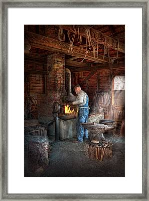 Blacksmith - The Importance Of The Blacksmith Framed Print by Mike Savad