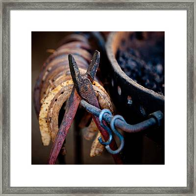 Blacksmith Tools Framed Print by Art Block Collections