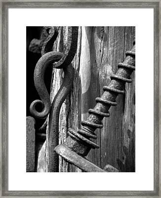 Blacksmith Tools Framed Print