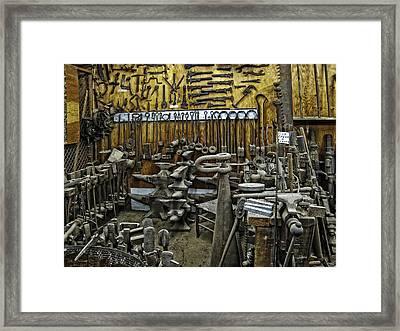 Blacksmith Works - 19th Century Framed Print by Daniel Hagerman