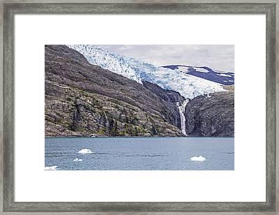 Blackstone Glacier Framed Print by Saya Studios