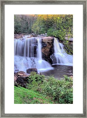 Framed Print featuring the photograph Blackwater Falls by Gordon Elwell