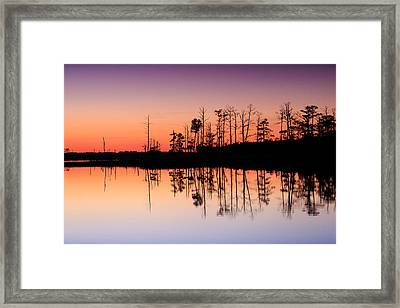 Framed Print featuring the photograph Blackwater Reflections by Jennifer Casey