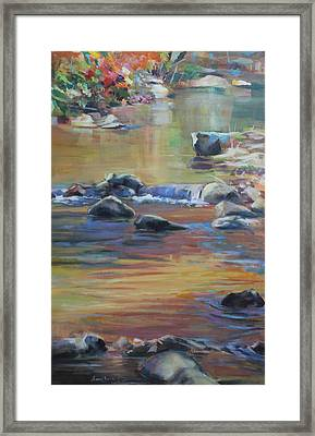 Blackwater River In Autumn Framed Print