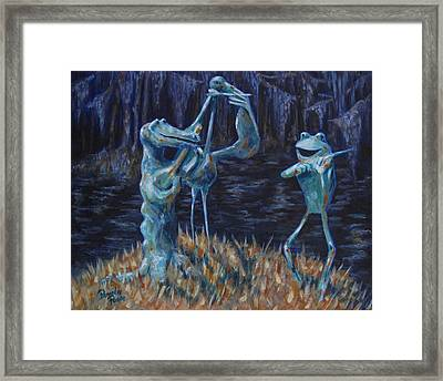 Blackwater Vibrations In The Audubon Swamp Framed Print