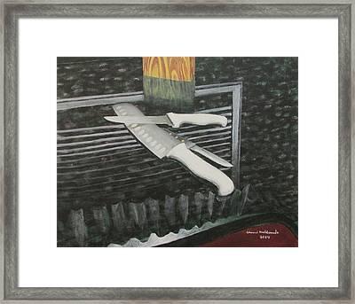 Blades Framed Print