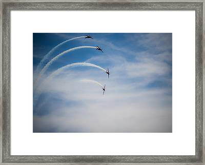 Framed Print featuring the photograph Blades Formation Loop by Scott Lyons