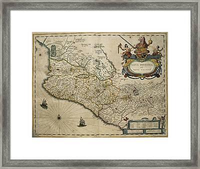 Blaeu, Willem Janszoon 1571-1638 Blaeu Framed Print by Everett