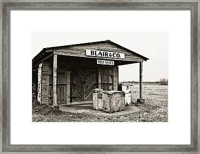Blair And Co. Framed Print by Scott Pellegrin