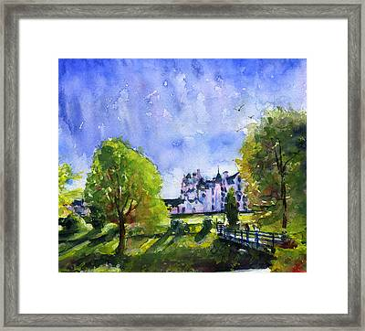 Blair Castle Bridge Scotland Framed Print