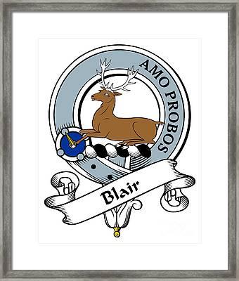 Blair Clan Badge Framed Print by Heraldry