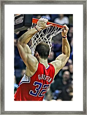 Blake Griffin Slam Dunk Framed Print by Florian Rodarte