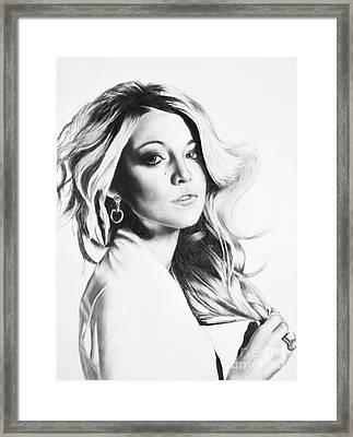 Blake Lively Framed Print by Michael Durocher