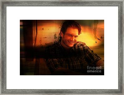 Blake Shelton Painting Framed Print by Marvin Blaine
