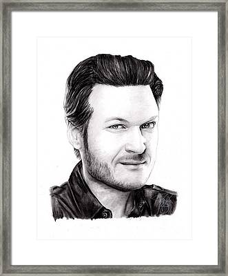 Blake Shelton Framed Print by Rosalinda Markle