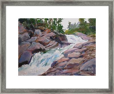 Blakiston Falls Framed Print by Mohamed Hirji