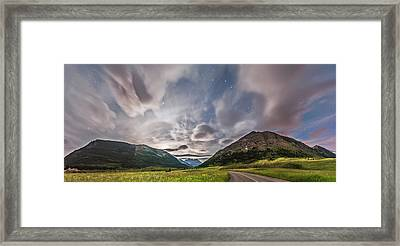 Blakiston Valley By Moonlight Framed Print by Alan Dyer