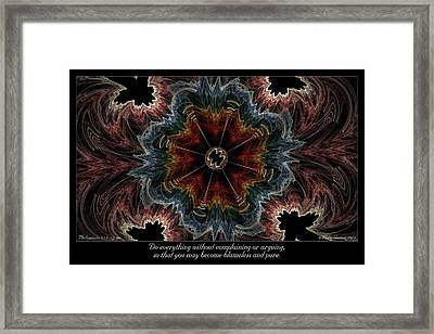 Blameless And Pure Framed Print