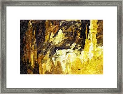 Blanchard Springs Caverns-arkansas Series 02 Framed Print by David Allen Pierson