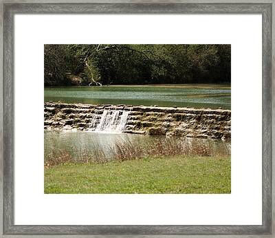 Blanco River Weir Framed Print