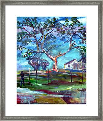 Blanco Texas Ranch House Framed Print