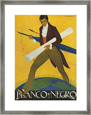 Blanco Y Negro  Spain Pens Writers Framed Print by The Advertising Archives