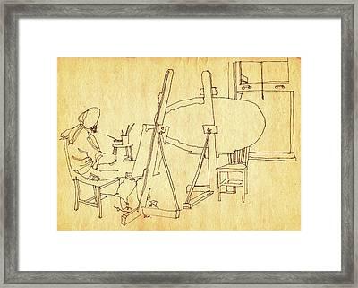 Blank Canvas Framed Print