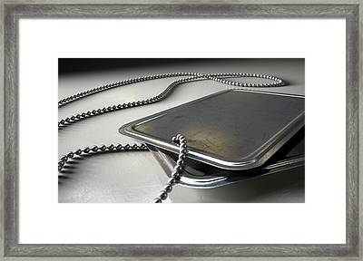 Blank Identity Dog Tags Dramatic Framed Print by Allan Swart