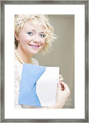 Blank Message Thank You Note Framed Print by Jorgo Photography - Wall Art Gallery