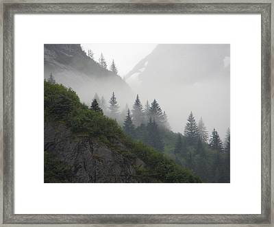 Blanket Of Fog Framed Print by Jennifer Wheatley Wolf